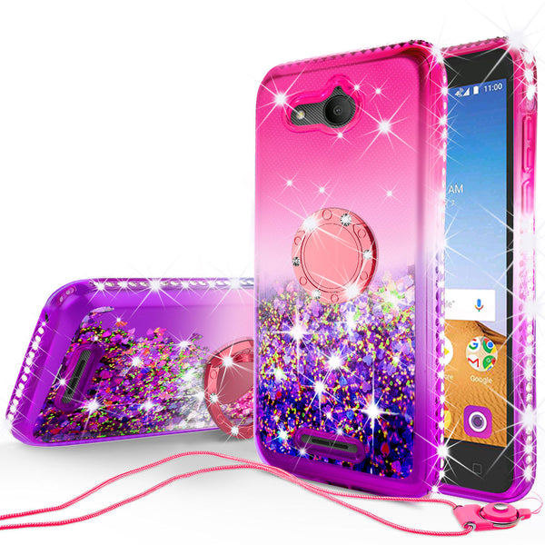 glitter ring phone case for alcatel tetra - hot pink gradient - www.coverlabusa.com