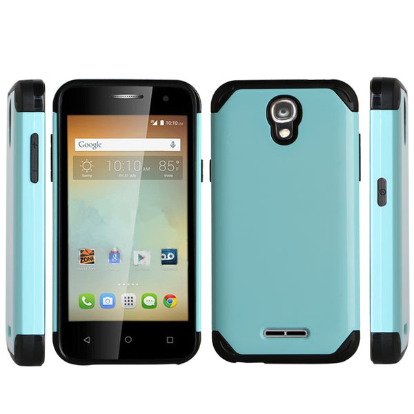 Alcatel OneTouch Elevate Hybrid Case - teal - www.coverlabusa.com