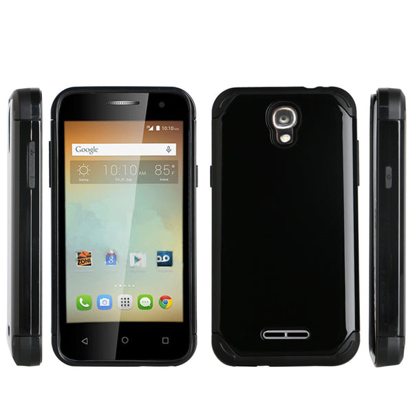 Alcatel OneTouch Elevate Hybrid Case - black - www.coverlabusa.com