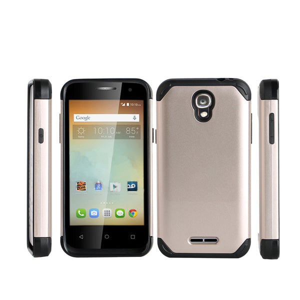 Alcatel OneTouch Elevate Hybrid Case - gold - www.coverlabusa.com