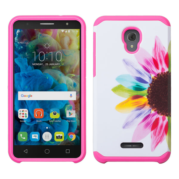 Alcatel Fierce 4 Case, Alcatel Onetouch Allura Case, Alcatel Pop 4+ Hybrid Case - sunflower - www.coverlabusa.com