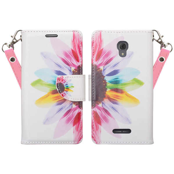 Alcatel Fierce 4, Alcatel Onetouch Allura, Alcatel Pop 4+ wallet case - Sunflower - www.coverlabusa.com