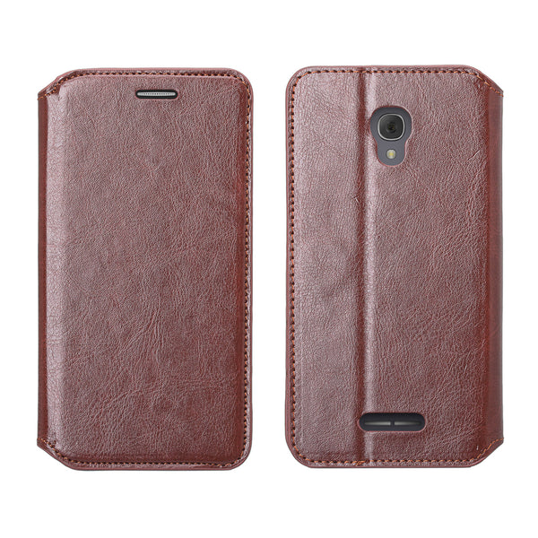 Alcatel Fierce 4, Alcatel Onetouch Allura, Alcatel Pop 4+ wallet case - Brown - www.coverlabusa.com