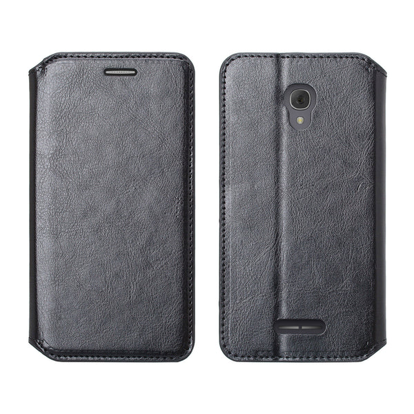 Alcatel Fierce 4, Alcatel Onetouch Allura, Alcatel Pop 4+ wallet case - Black - www.coverlabusa.com