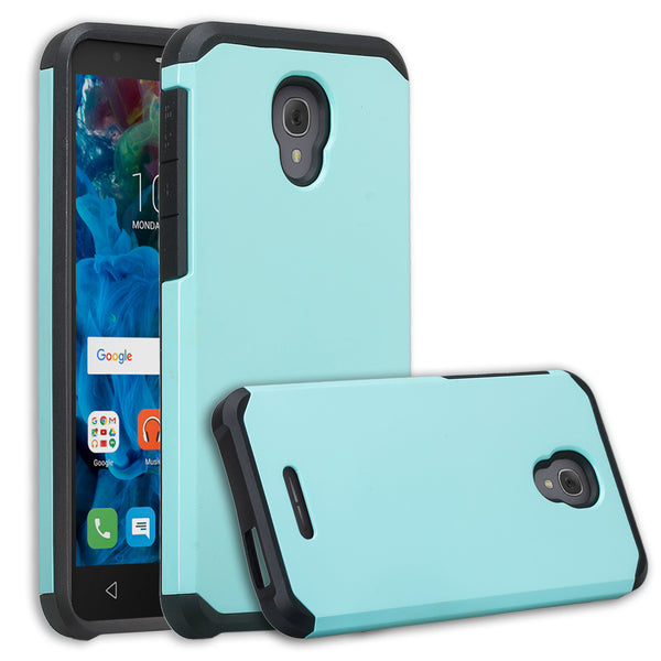 Alcatel Fierce 4 Case, Alcatel Onetouch Allura Case, Alcatel Pop 4+ Hybrid Case - teal - www.coverlabusa.com