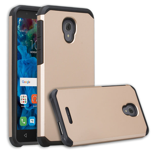 Alcatel Fierce 4 Case, Alcatel Onetouch Allura Case, Alcatel Pop 4+ Hybrid Case - gold - www.coverlabusa.com