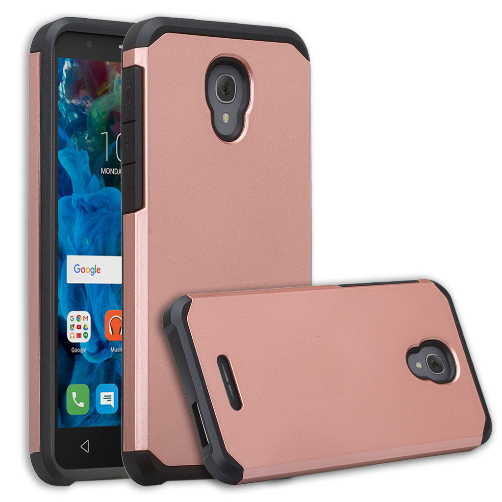 size 40 0bc24 2ce35 Alcatel Fierce 4 Case | Alcatel Onetouch Allura Case | Alcatel Pop 4+ Slim  Hybrid Dual Layer Case - Solid Rose Gold