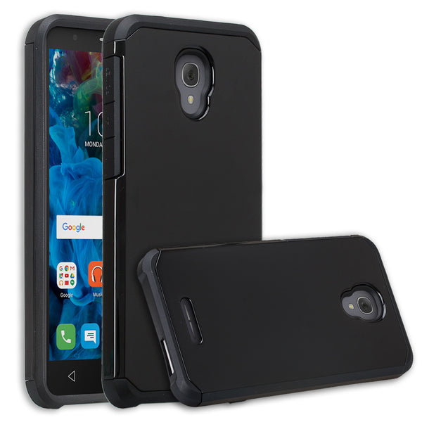 Alcatel Fierce 4 Case, Alcatel Onetouch Allura Case, Alcatel Pop 4+ Hybrid Case - black - www.coverlabusa.com