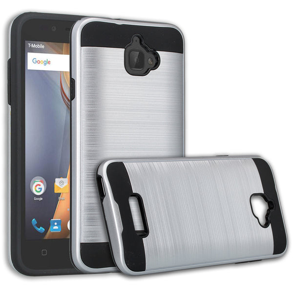 coolpad catalyst case cover - brush silver - www.coverlabusa.com