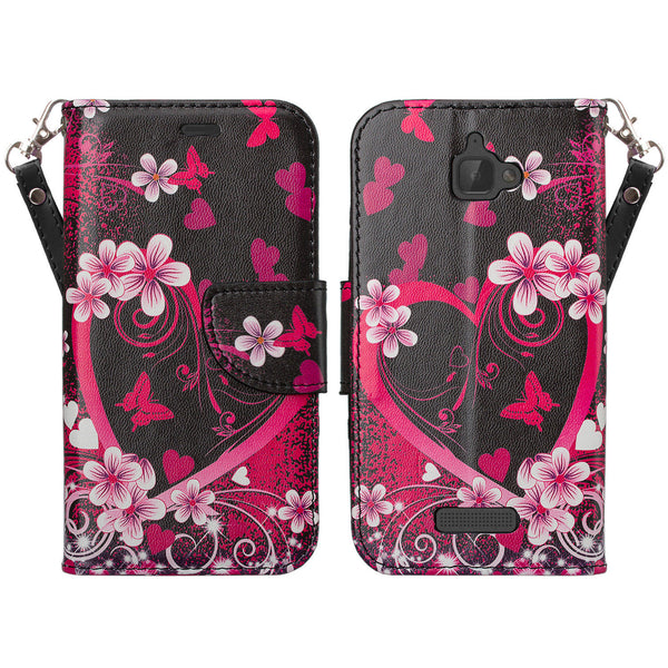 coolpad catalyst wallet case - heart butterflies - www.coverlabusa.com