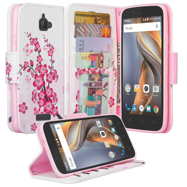 coolpad catalyst wallet case - cherry blossom - www.coverlabusa.com
