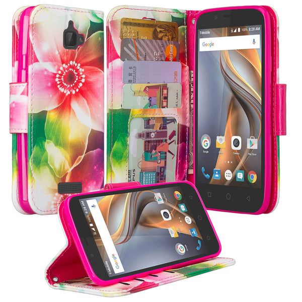 coolpad catalyst wallet case - lily pedals - www.coverlabusa.com