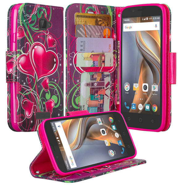 coolpad catalyst wallet case - heart strings - www.coverlabusa.com