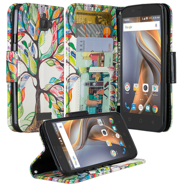 coolpad catalyst wallet case - colorful tree - www.coverlabusa.com