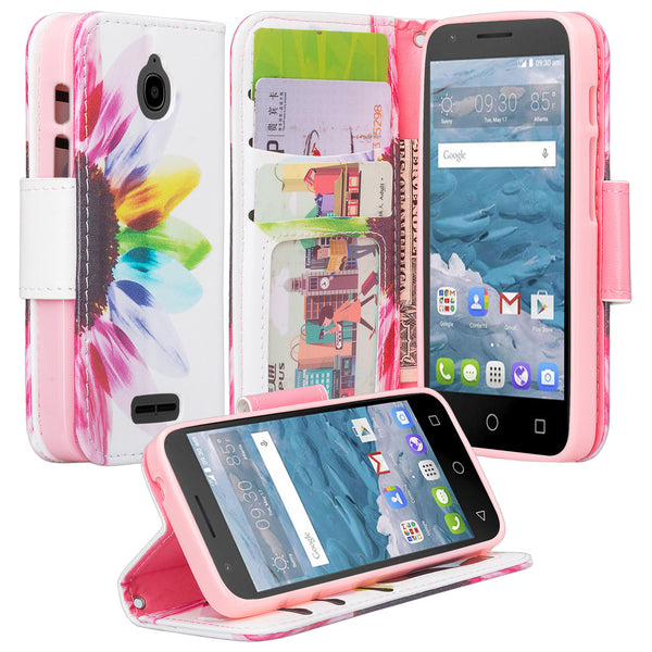 Alcatel dawn cover,dawn wallet case - vivid sunflower - www.coverlabusa.com