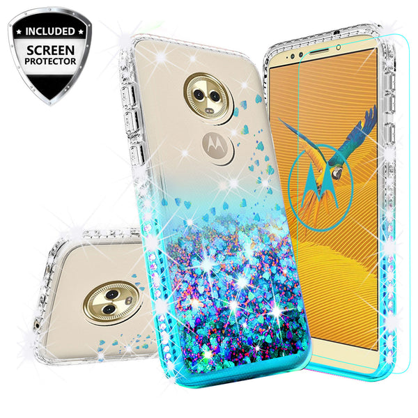 clear liquid phone case for motorola moto e5 plus - teal - www.coverlabusa.com