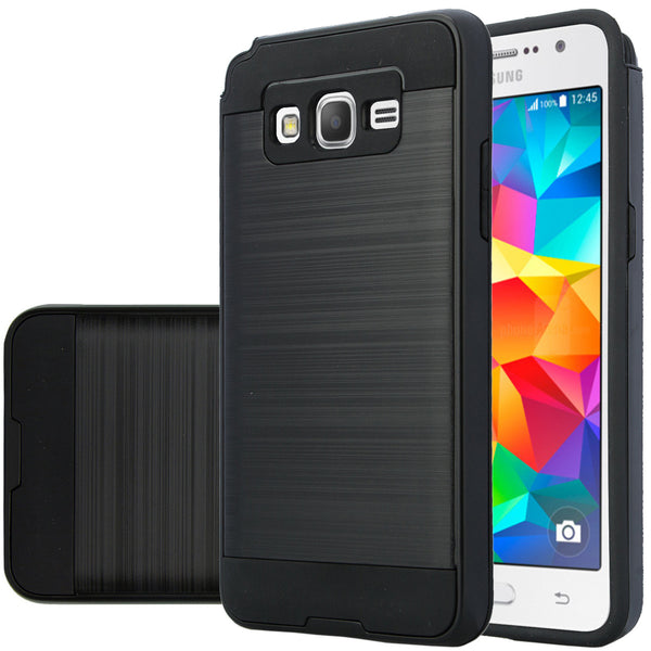 galaxy go,samsung grand prime hybrid case - brush black - www.coverlabusa.com