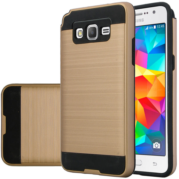 galaxy go,samsung grand prime hybrid case - brush gold - www.coverlabusa.com