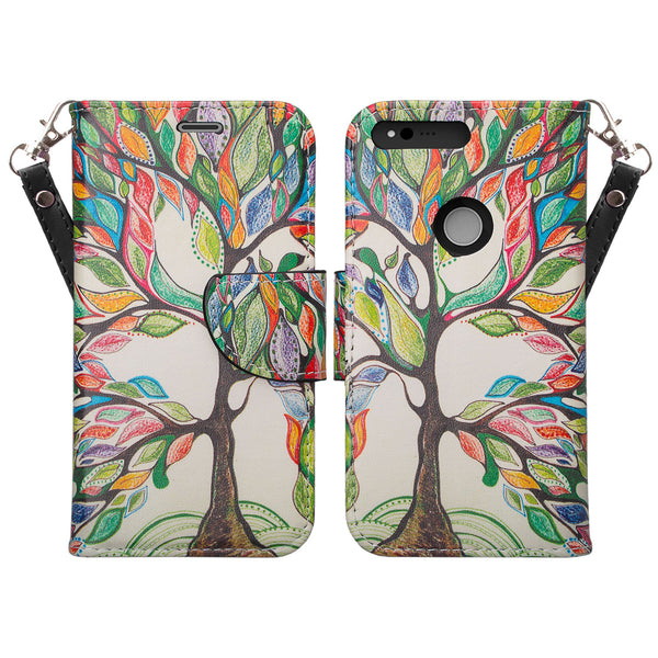 google pxiel cover, pixel wallet case - colorful tree - www.coverlabusa.com