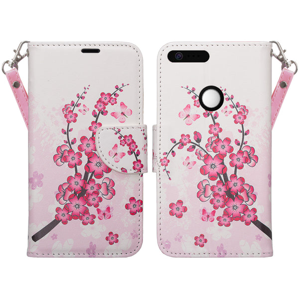 google pixel xl cover, pixel xl wallet case - cherry blossom - www.coverlabusa.com