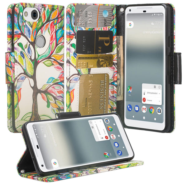 Google Pixel 2 Wallet Case - vibrant tree - www.coverlabusa.com
