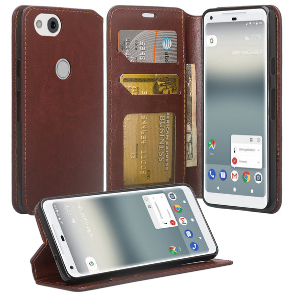Google Pixel 2 Wallet Case - brown - www.coverlabusa.com