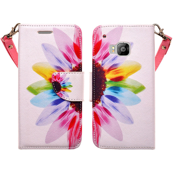 HTC One M9 wallet case - Vivid Sunflower - www.coverlabusa.com