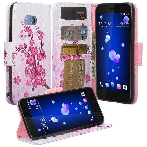 HTC U11 Wallet Case - cherry blossom - www.coverlabusa.com