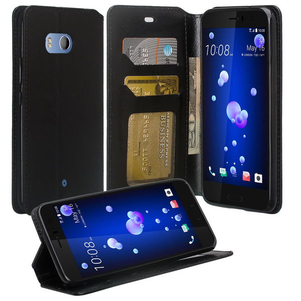 HTC U11 Wallet Case - black - www.coverlabusa.com