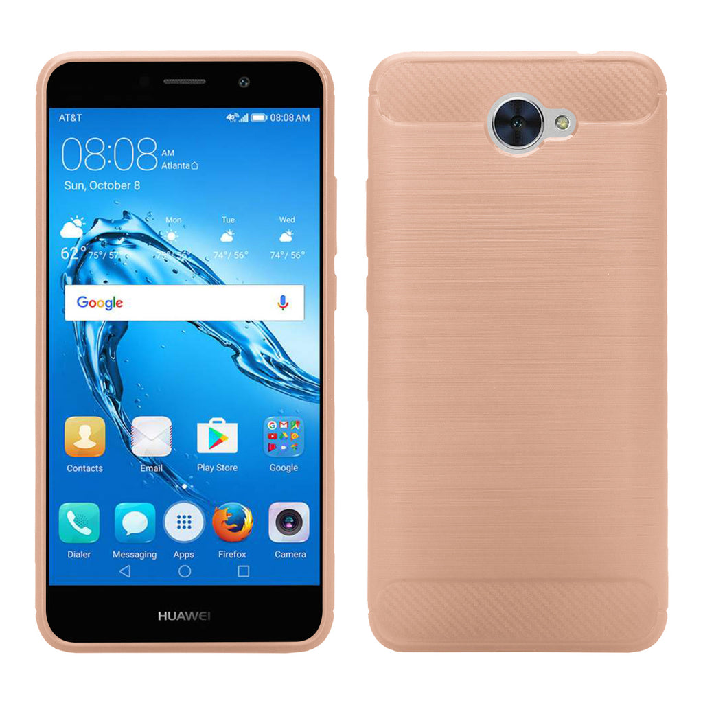 new product 9a15a e59d9 Huawei Ascend XT 2 Case, Elate 4G Case, H1711 Case, Slim [Shock Proof]  Flexible TPU Cover - Brush Rose Gold
