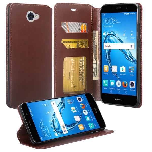 Huawei Ascend XT 2 Wallet Case - brown - www.coverlabusa.com