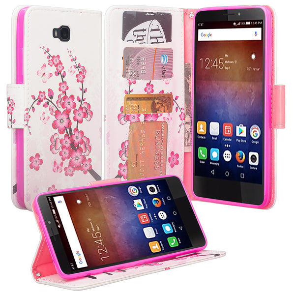 huawei ascend xt leather wallet case - cherry blossom - www.coverlabusa.com