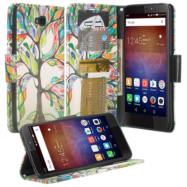 huawei ascend xt leather wallet case - colorful tree - www.coverlabusa.com