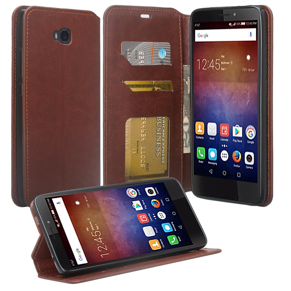 Huawei Ascend Xt leather wallet case - brown - www.coverlabusa.com