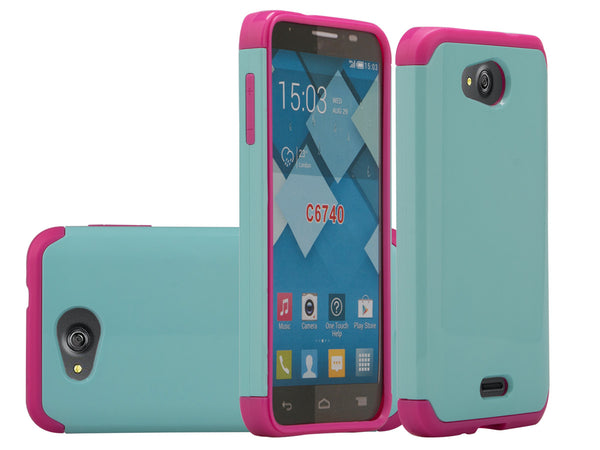 Kyocera Hydro Wave Case - teal/hot pink - www.coverlabusa.com