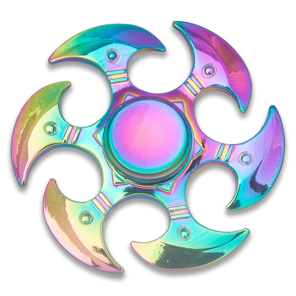 Rainbow Chrome Phoenix Fidget Spinner Metal Anxiety Relief Hand Finger Toy