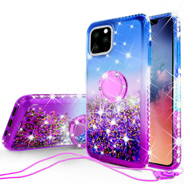 glitter phone case for apple iphone 11 - blue/purple gradient - www.coverlabusa.com