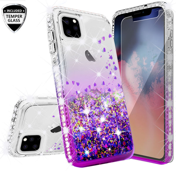 clear liquid phone case for apple iphone 11 pro - purple - www.coverlabusa.com
