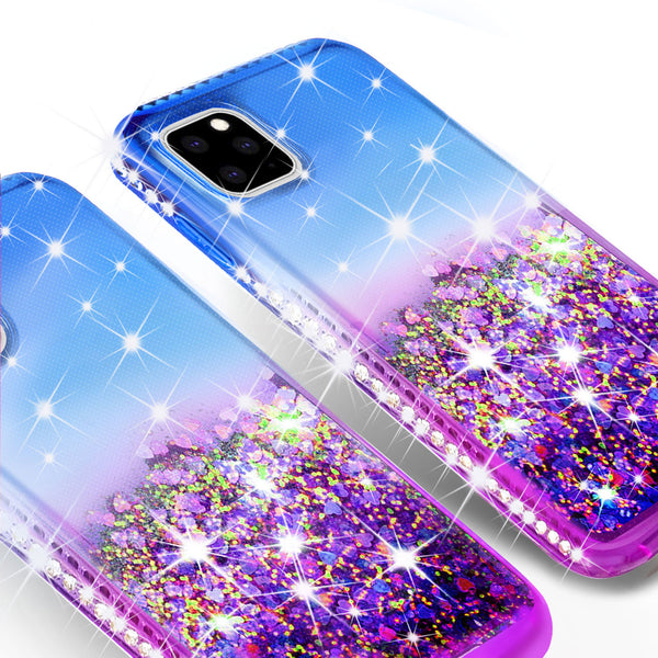 glitter phone case for apple iphone 11 pro - blue/purple gradient - www.coverlabusa.com
