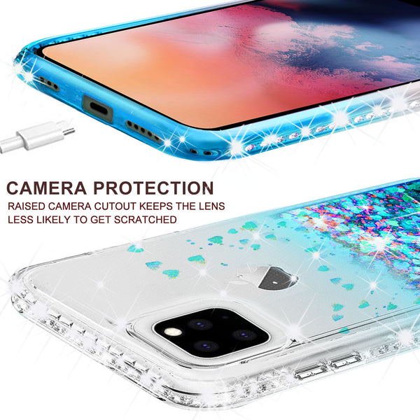 clear liquid phone case for apple iphone 11 - teal - www.coverlabusa.com