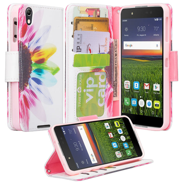 Alcatel idol 4 cover,idol4 wallet case - vivid sunflower - www.coverlabusa.com