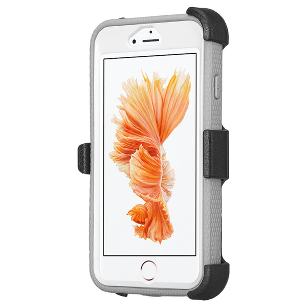 iphone 7 case, iphone 7 holster shell combo | heavy duty with screen protector - white - www.coverlabusa.com