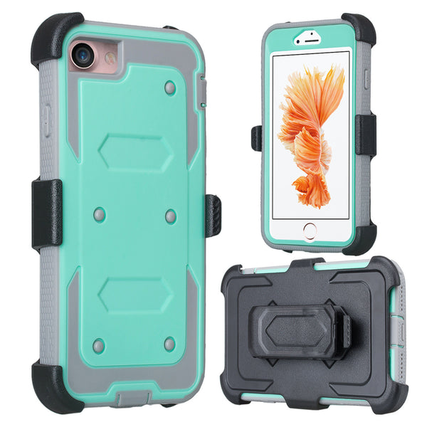iphone 6S 6 case, apple iphone 6S/6 holster shell combo with screen protector | teal - www.coverlabusa.com
