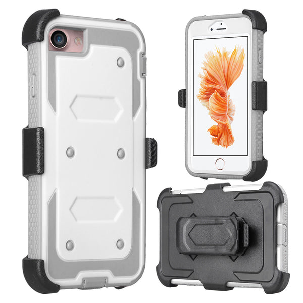 iphone 6S, 6 case, iphone 6S/6 holster shell combo | heavy duty with screen protector - white - www.coverlabusa.com