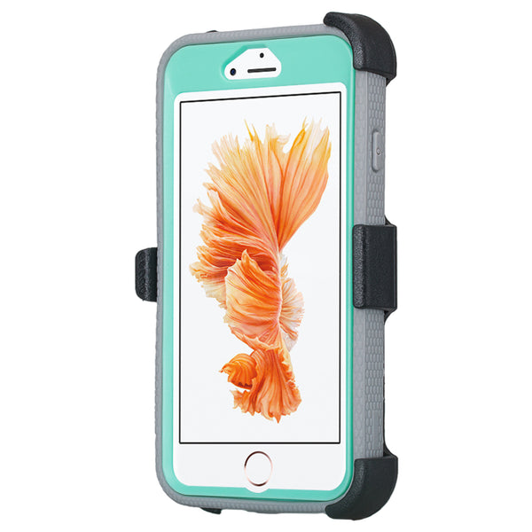 iphone 7 case, apple iphone 7 holster shell combo with screen protector | teal - www.coverlabusa.com