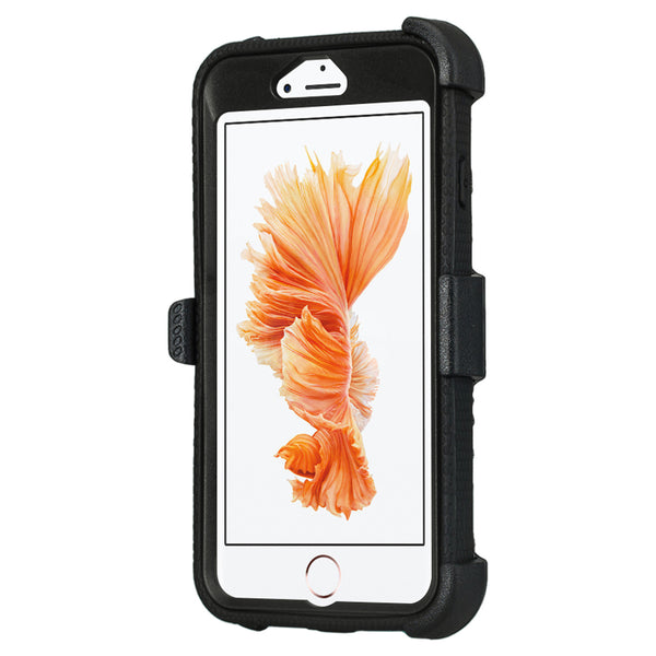 Apple iPhone 7 Plus Case | Heavy Duty 3-in-1 Defender Holster Shell Combo | Black - www.coverlabusa.com
