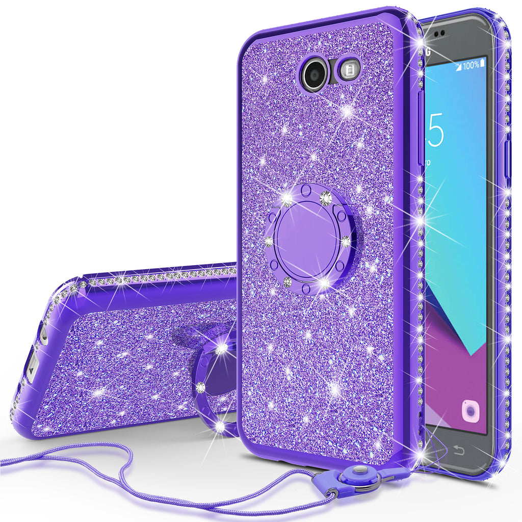f1730e3df54 samsung galaxy j3 emerge glitter bling fashion case - purple -  www.coverlabusa.com