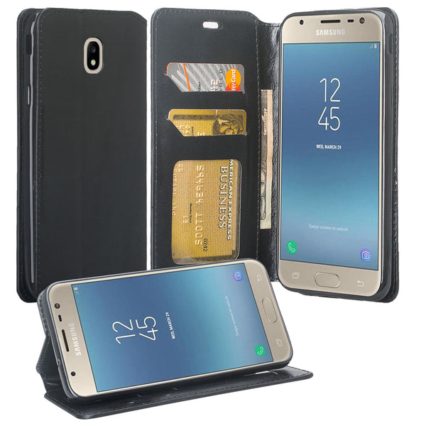 Samsung Galaxy J7 2018 Wallet Case - black - www.coverlabusa.com