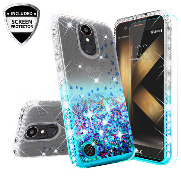 clear liquid phone case for lg k20 plus - teal - www.coverlabusa.com