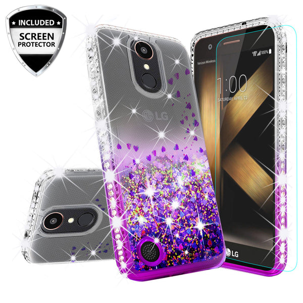 clear liquid phone case for lg k20 plus - purple - www.coverlabusa.com